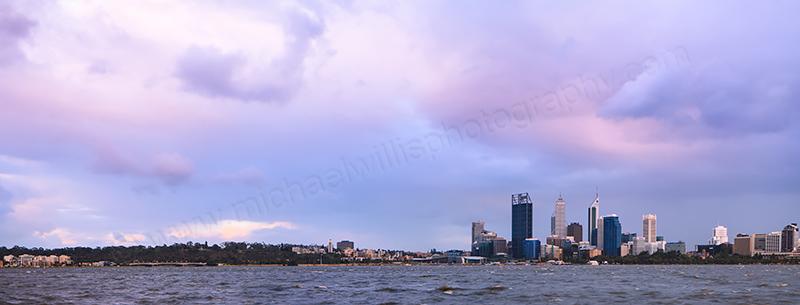 Perth and the Swan River at Sunrise, 29th November 2012