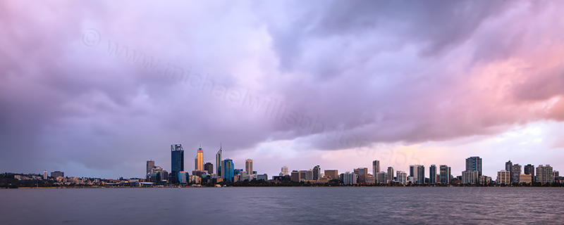 Perth and the Swan River at Sunrise, 30th November 2012
