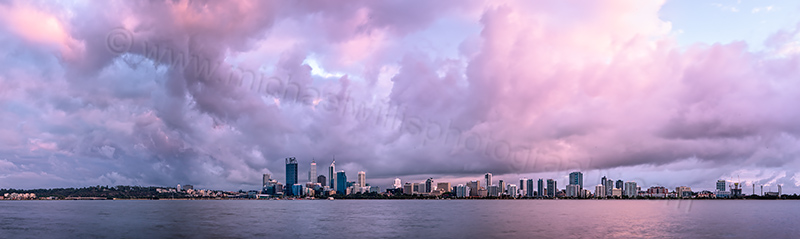Perth and the Swan River at Sunrise, 6th December 2012