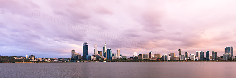 Perth and the Swan River at Sunrise, 13th December 2012