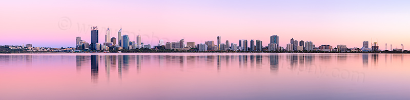 Perth and the Swan River at Sunrise, 15th December 2012