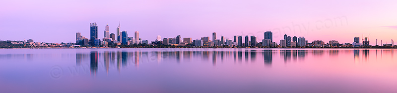 Perth and the Swan River at Sunrise, 22nd December 2012
