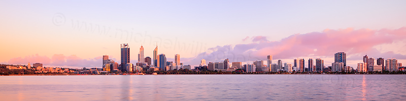 Perth and the Swan River at Sunrise, 23rd December 2012