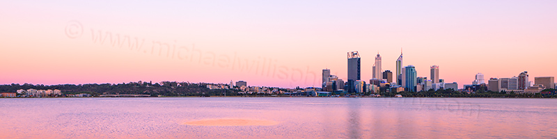 Perth and the Swan River at Sunrise, 24th December 2012
