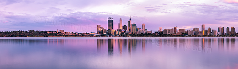 Perth and the Swan River at Sunrise, 28th December 2012