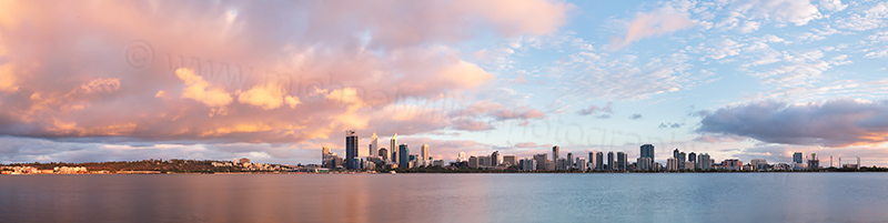 Perth and the Swan River at Sunrise, 2nd January 2013