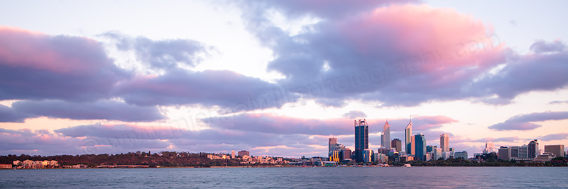 Perth and the Swan River at Sunrise, 3rd January 2013