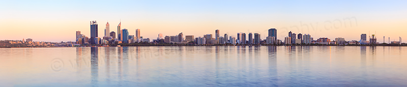 Perth and the Swan River at Sunrise, 5th January 2013