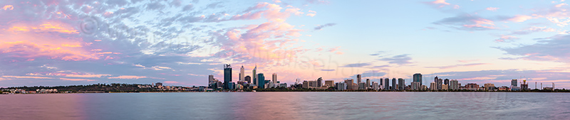 Perth and the Swan River at Sunrise, 8th January 2013