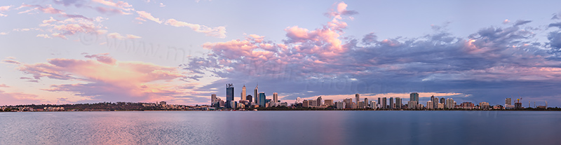 Perth and the Swan River at Sunrise, 12th January 2013