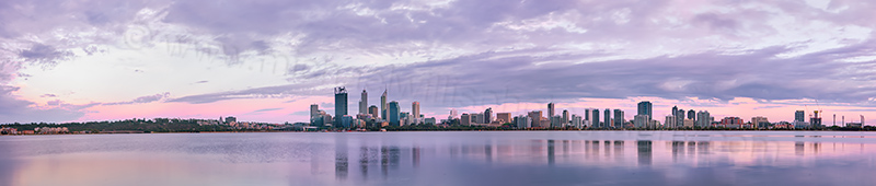 Perth and the Swan River at Sunrise, 14th January 2013