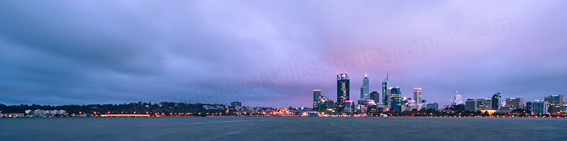 Perth and the Swan River at Sunrise, 16th January 2013