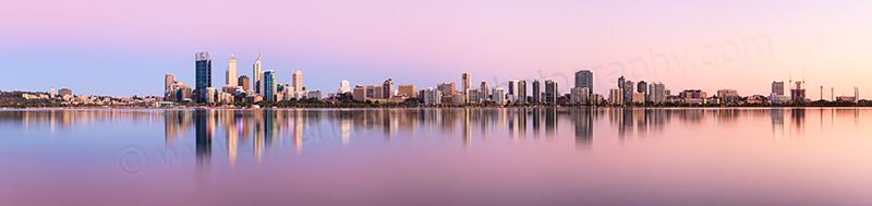 Perth and the Swan River at Sunrise, 20th January 2013