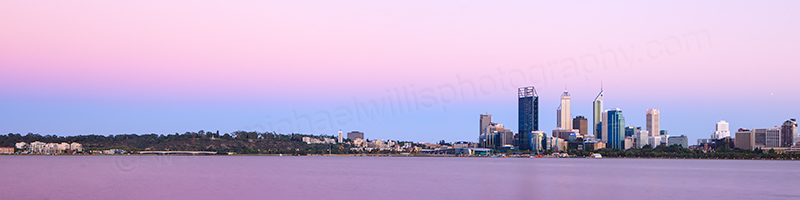 Perth and the Swan River at Sunrise, 22nd January 2013
