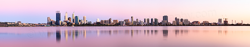 Perth and the Swan River at Sunrise, 29th January 2013