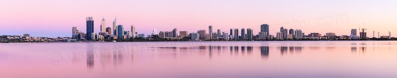 Perth and the Swan River at Sunrise, 30th January 2013