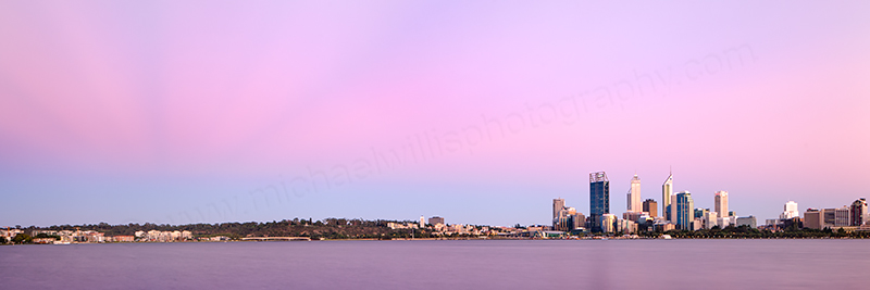 Perth and the Swan River at Sunrise, 31st January 2013