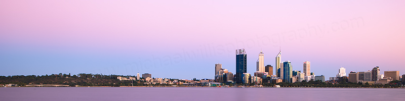 Perth and the Swan River at Sunrise, 3rd February 2013