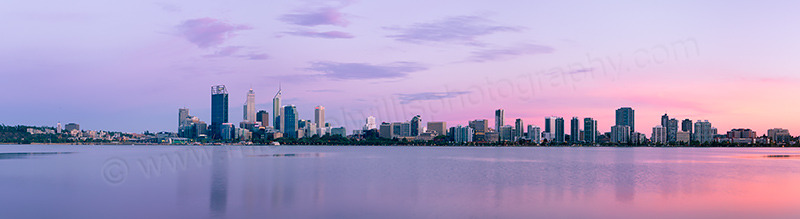 Perth and the Swan River at Sunrise, 5th February 2013