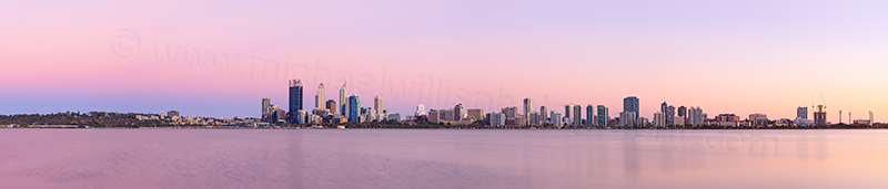 Perth and the Swan River at Sunrise, 7th February 2013