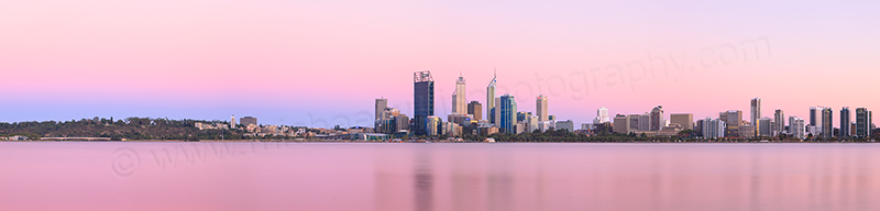 Perth and the Swan River at Sunrise, 8th February 2013