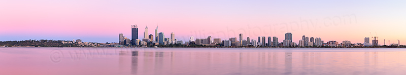 Perth and the Swan River at Sunrise, 9th February 2013