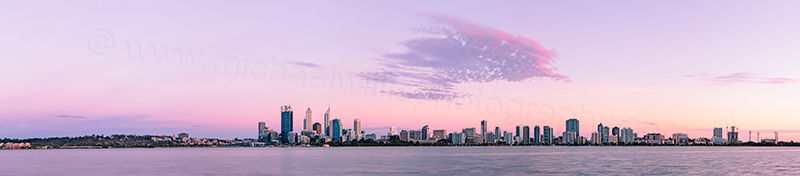 Perth and the Swan River at Sunrise, 12th February 2013