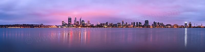 Perth and the Swan River at Sunrise, 14th February 2013
