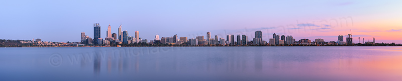 Perth and the Swan River at Sunrise, 15th February 2013