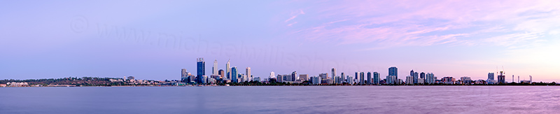 Perth and the Swan River at Sunrise, 16th February 2013