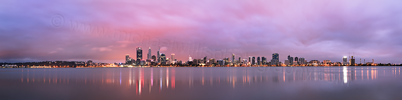 Perth and the Swan River at Sunrise, 17th February 2013