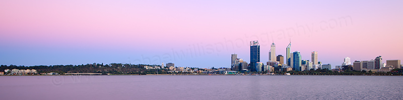Perth and the Swan River at Sunrise, 18th February 2013
