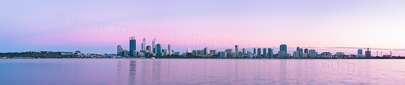 Perth and the Swan River at Sunrise, 20th February 2013