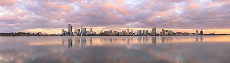 Perth and the Swan River at Sunrise, 23rd February 2013