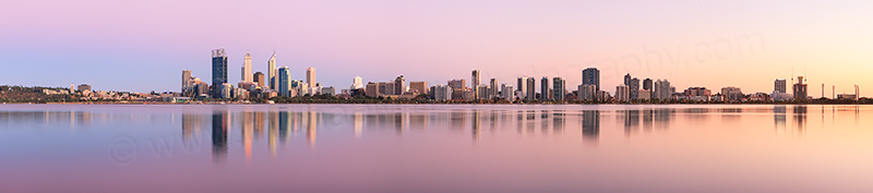 Perth and the Swan River at Sunrise, 24th February 2013