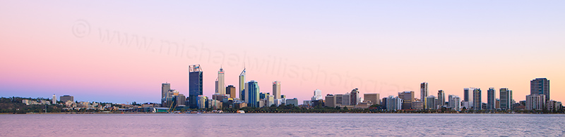 Perth and the Swan River at Sunrise, 28th February 2013
