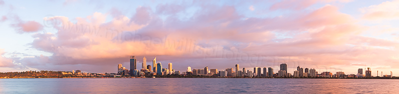 Perth and the Swan River at Sunrise, 5th March 2013