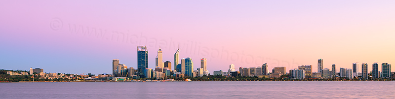 Perth and the Swan River at Sunrise, 8th March 2013