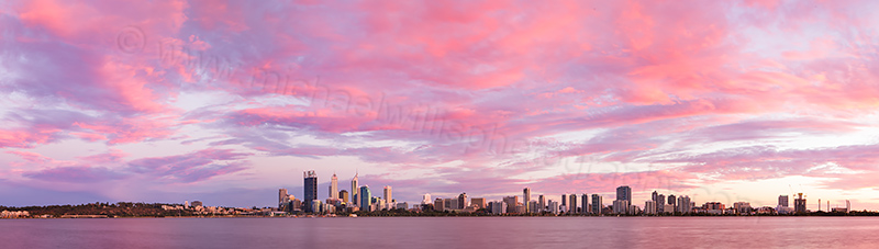 Perth and the Swan River at Sunrise, 9th March 2013