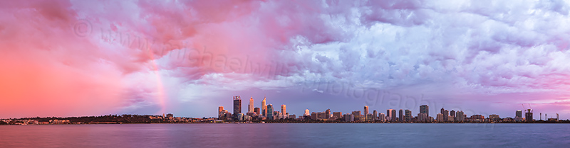 Perth and the Swan River at Sunrise, 14th March 2013