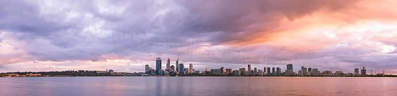 Perth and the Swan River at Sunrise, 15th March 2013