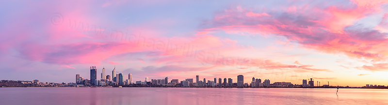 Perth and the Swan River at Sunrise, 18th March 2013