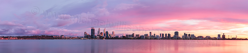 Perth and the Swan River at Sunrise, 20th March 2013
