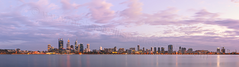 Perth and the Swan River at Sunrise, 21st March 2013