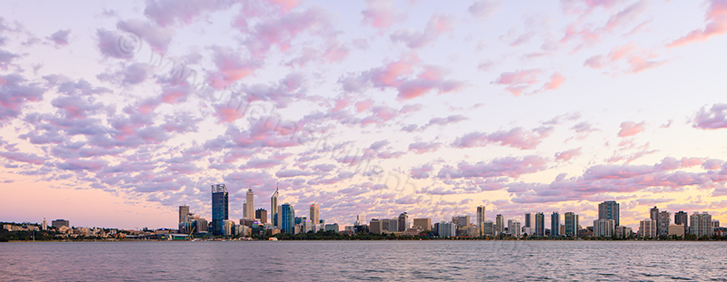 Perth and the Swan River at Sunrise, 3rd April 2013