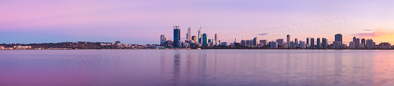Perth and the Swan River at Sunrise, 4th April 2013
