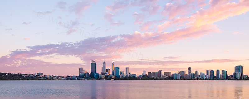 Perth and the Swan River at Sunrise, 7th April 2013