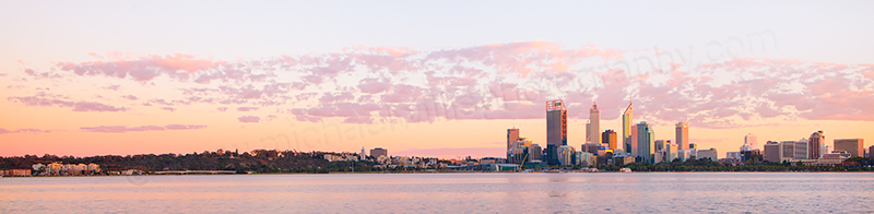 Perth and the Swan River at Sunrise, 8th April 2013