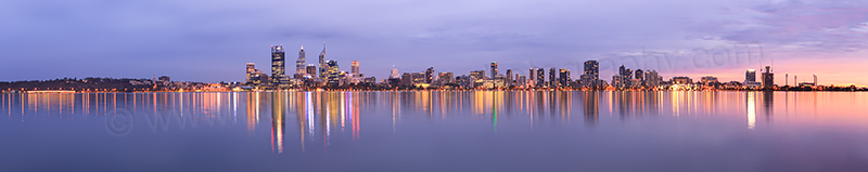 Perth and the Swan River at Sunrise, 12th April 2013