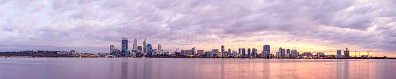 Perth and the Swan River at Sunrise, 15th April 2013